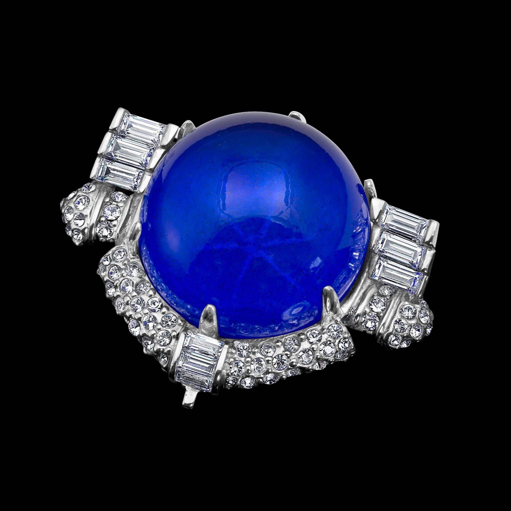 Star sapphire brooch replica