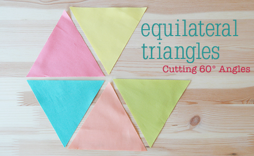 Cutting 60 Degree Triangles ~ Tutorial by Faith of Fresh Lemons Quilts