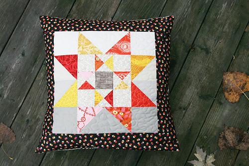 Autumn Star Pillow by Faith of Fresh Lemons Quilts