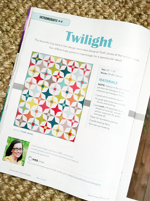 Twilight Quilt by Fresh Lemons Quilts: Faith