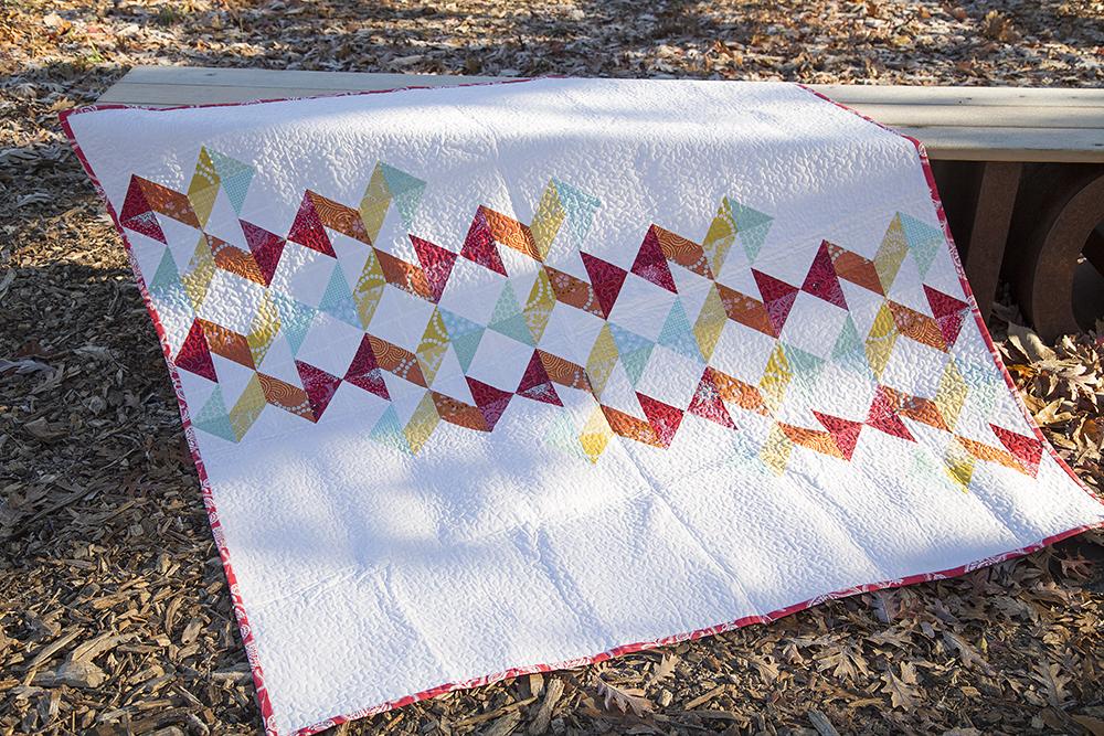 Geometric Slide Quilt from pattern in Vintage Quilt Revival : Fresh Lemons Quilts