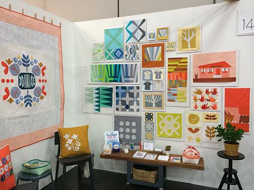 Quilt Market Booth by Carolyn Friedlander : Fresh Lemons Quilts