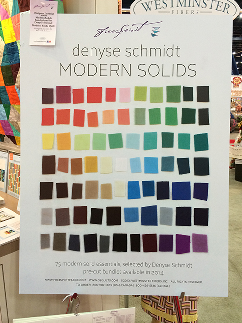 Modern Solids by Denyse Schmidt at Quilt Market : Fresh Lemons Quilts