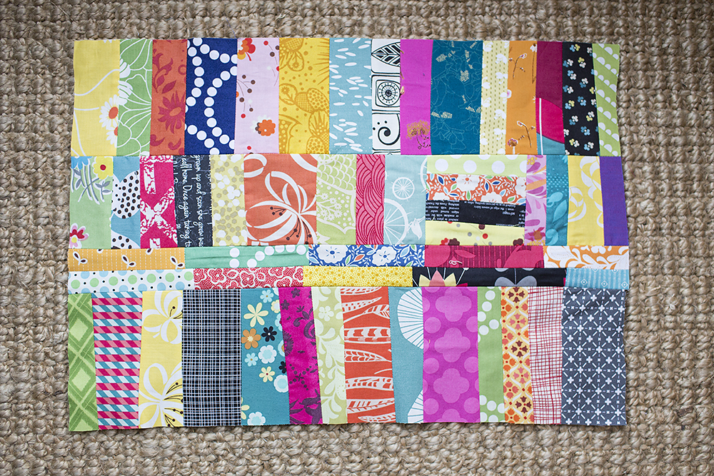 Quilt Improv ~ Chain-Pieced Strips : Fresh Lemons Quilts