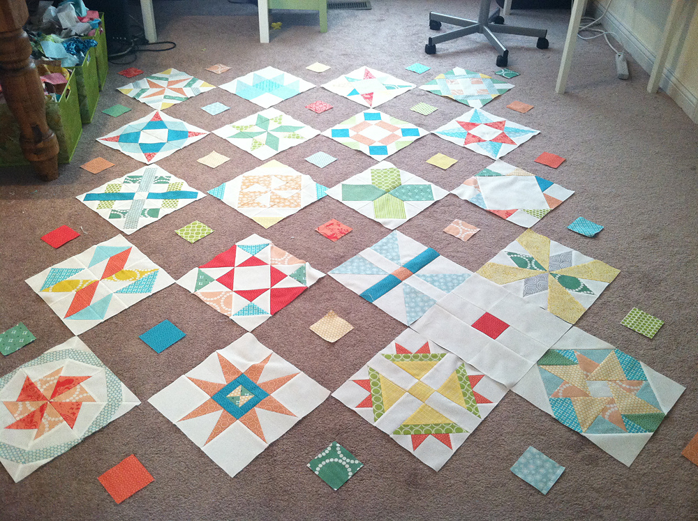 Meet the Vintage Quilt Revival Quilts: Sampler on Point by Fresh Lemons Quilts
