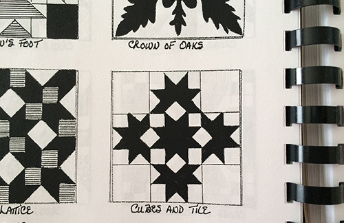 Cubes and Tiles Quilt Block - Nancy Cabot 1933