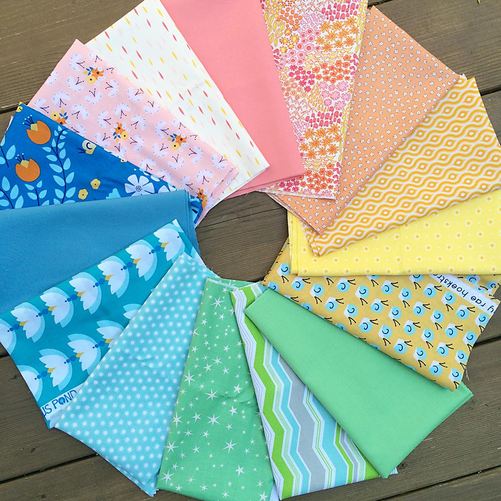 Faith Jones Fresh Lemons Quilts fabric bundle from Fat Quarter Shop