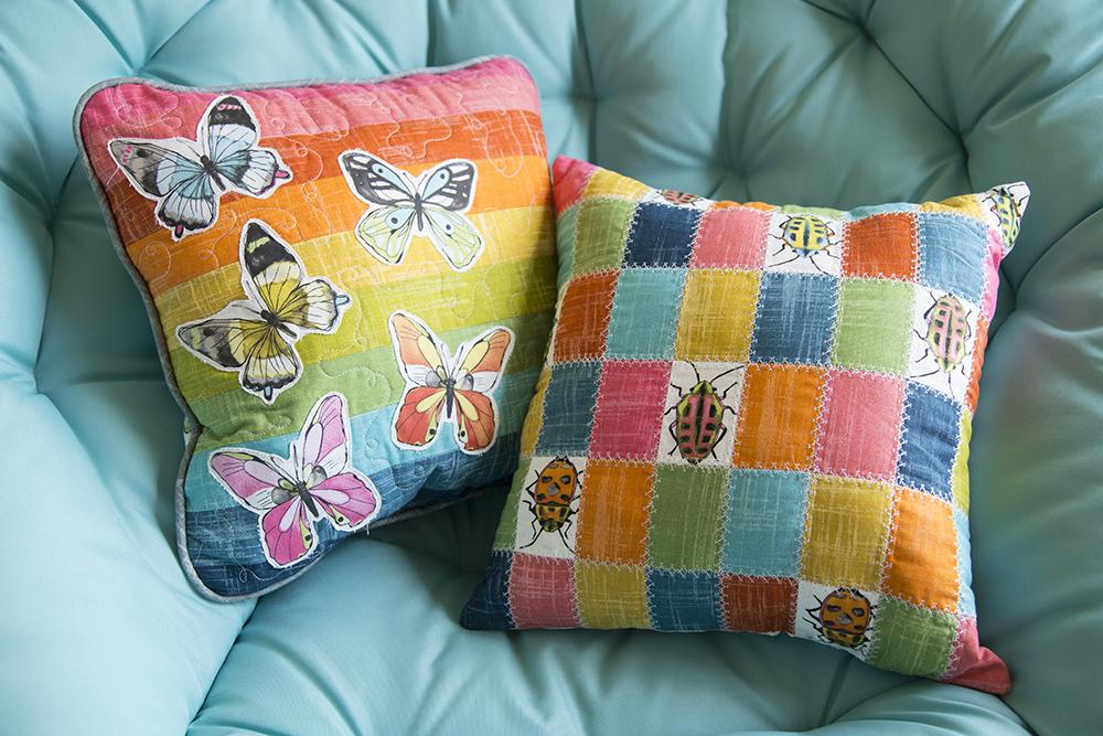 Flutter Pillows : Fresh Lemons Quilts