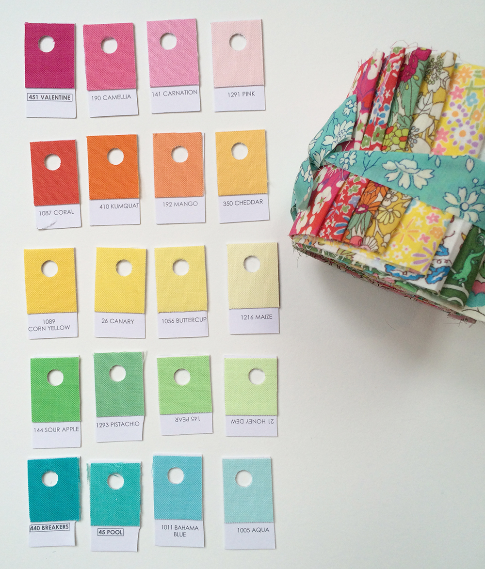 Kona Cotton Solids and Liberty of London : Fresh Lemons Quilts