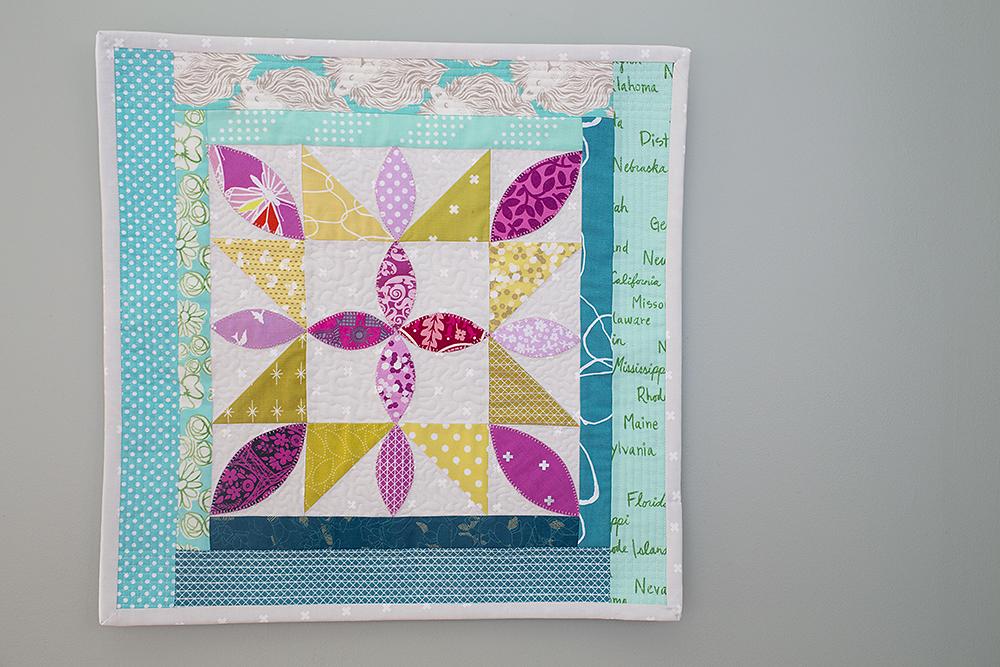 Playful Petals Mini Quilt : Fresh Lemons Quilts