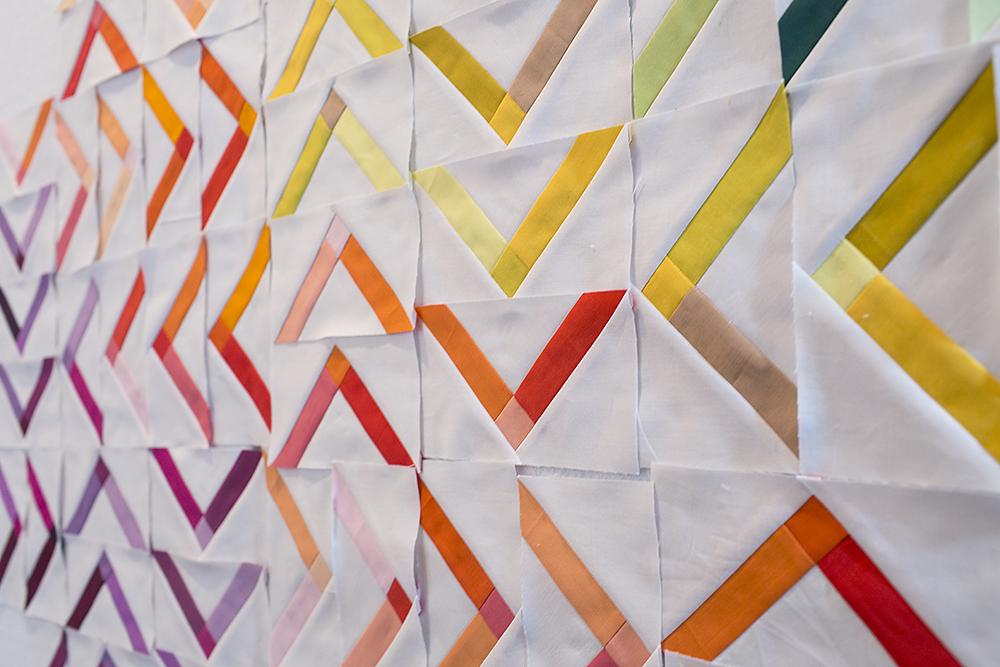 Modern Solids by Denyse Schmidt Quilt Progress : Fresh Lemons Quilts