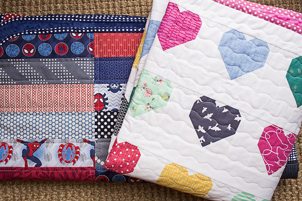 Hanna Hearts and Spidey Quilt : Fresh Lemons Quilts
