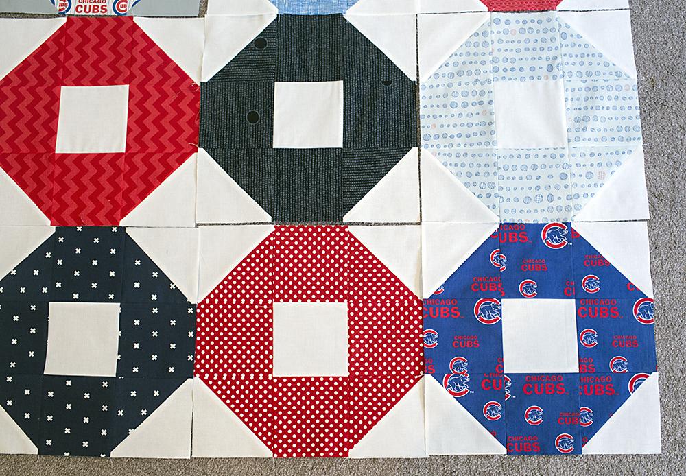 Cubs Quilt Blocks - Shoo Fly