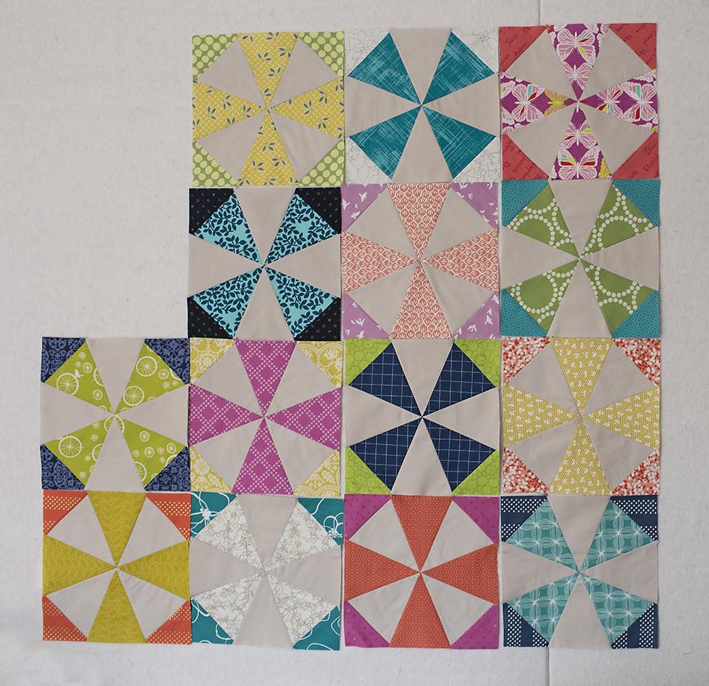 Kaleidoscope Quilt Progress : Fresh Lemons Quilts