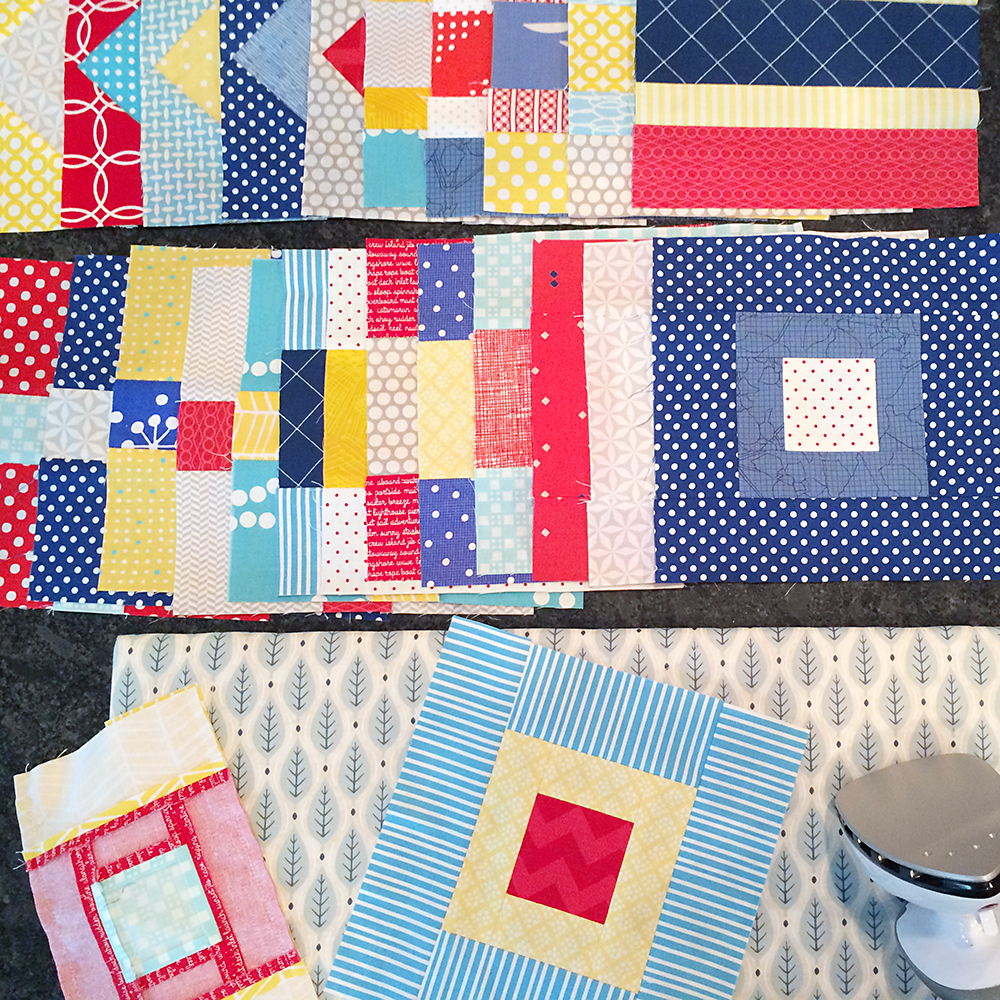 Nautical Quilt in Progress, Pattern by Cluck Cluck Sew : Fresh Lemons Quilts