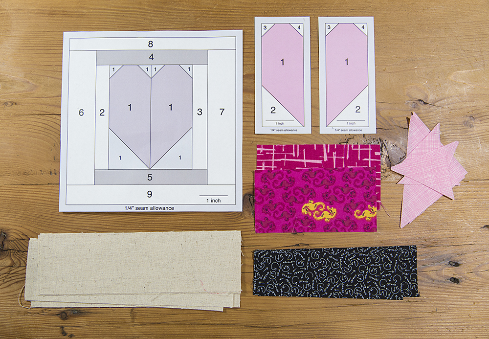 Heart Spool Quilt Block : Fresh Spool Series at Fresh Lemons Quilts