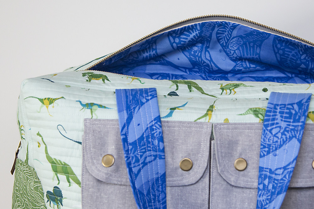 Cargo Duffle - pattern by Noodlehead : Fresh Lemons Quilts