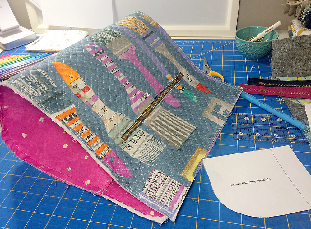 Maker's Tote, pattern by Noodlehead : Fresh Lemons Quilts