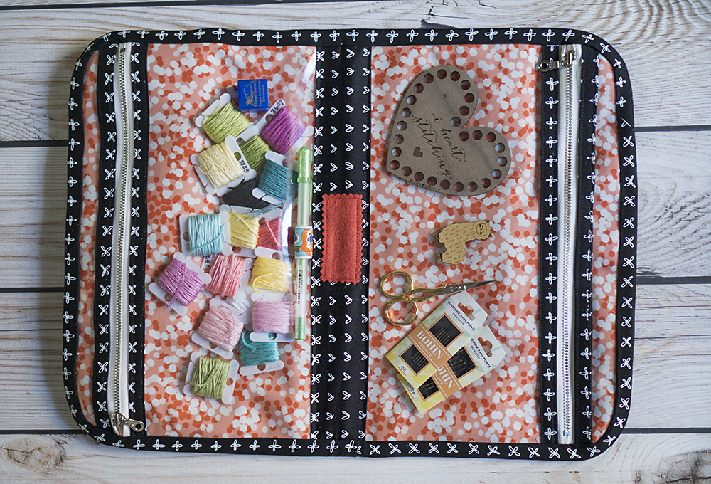 Cross Stitch with Kids at Fresh Lemons Quilts