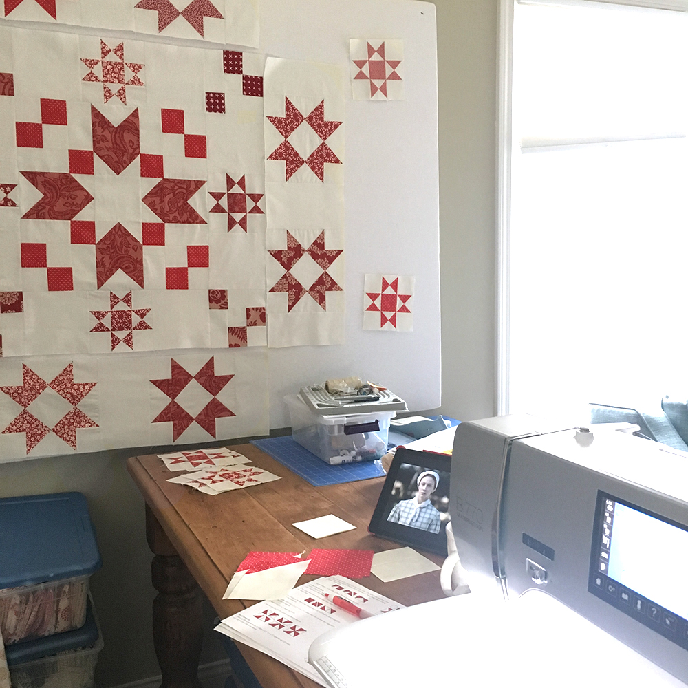 A Red and White Christmas at Fresh Lemons Quilts