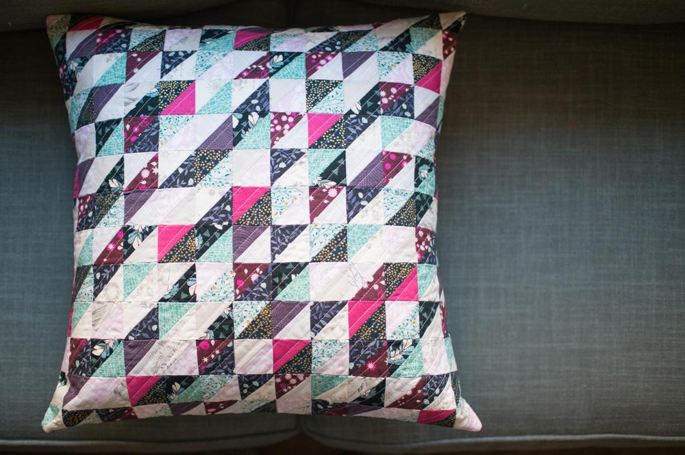 Tiny Half Square Triangle Pillow