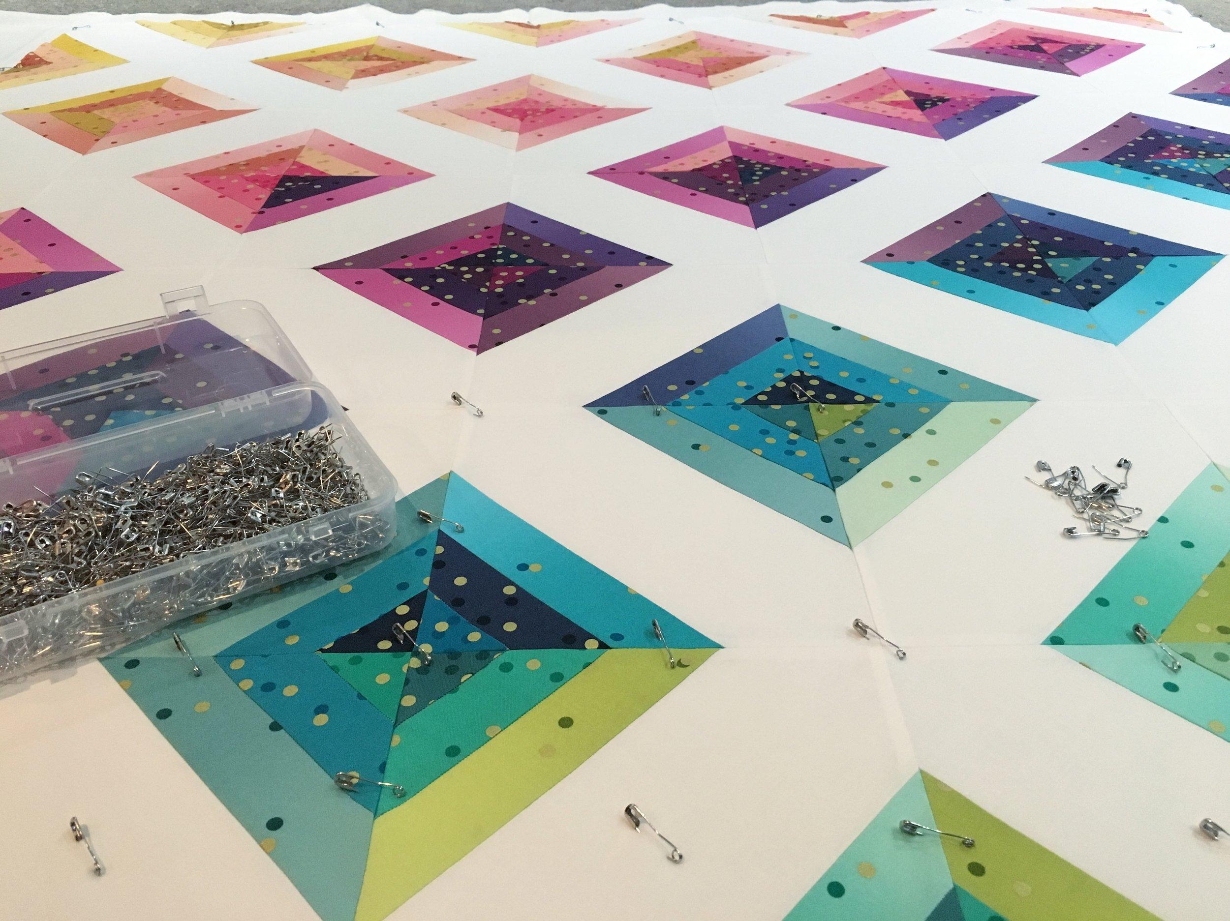 Rainbow Confetti by Fresh Lemons Quilts