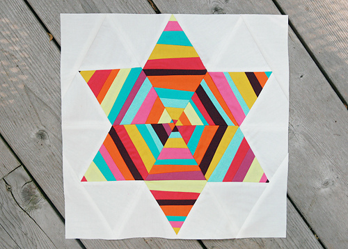 Block 7 : Six Point String Quilt -