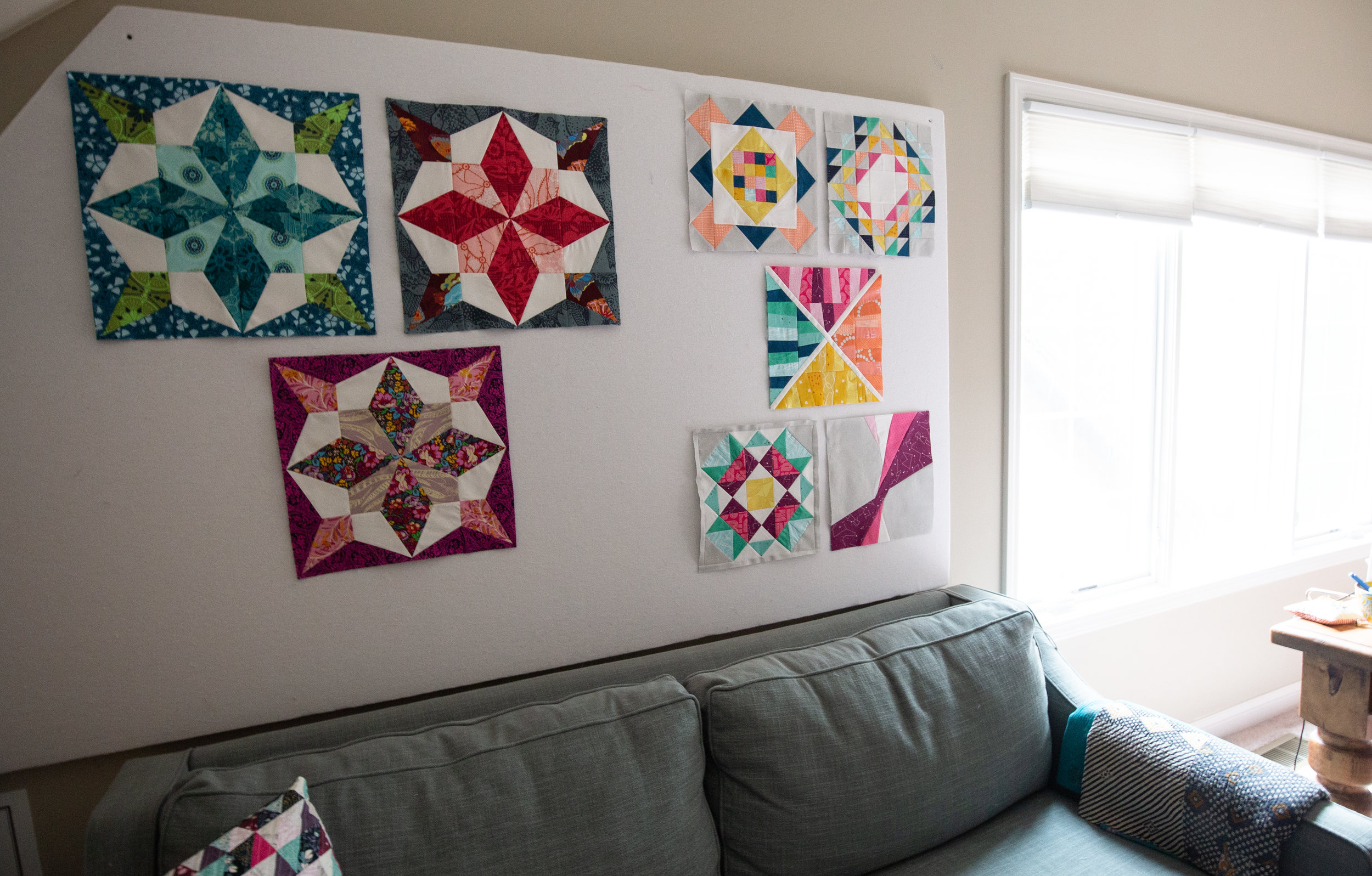 Fresh Lemons Quilts Design Wall