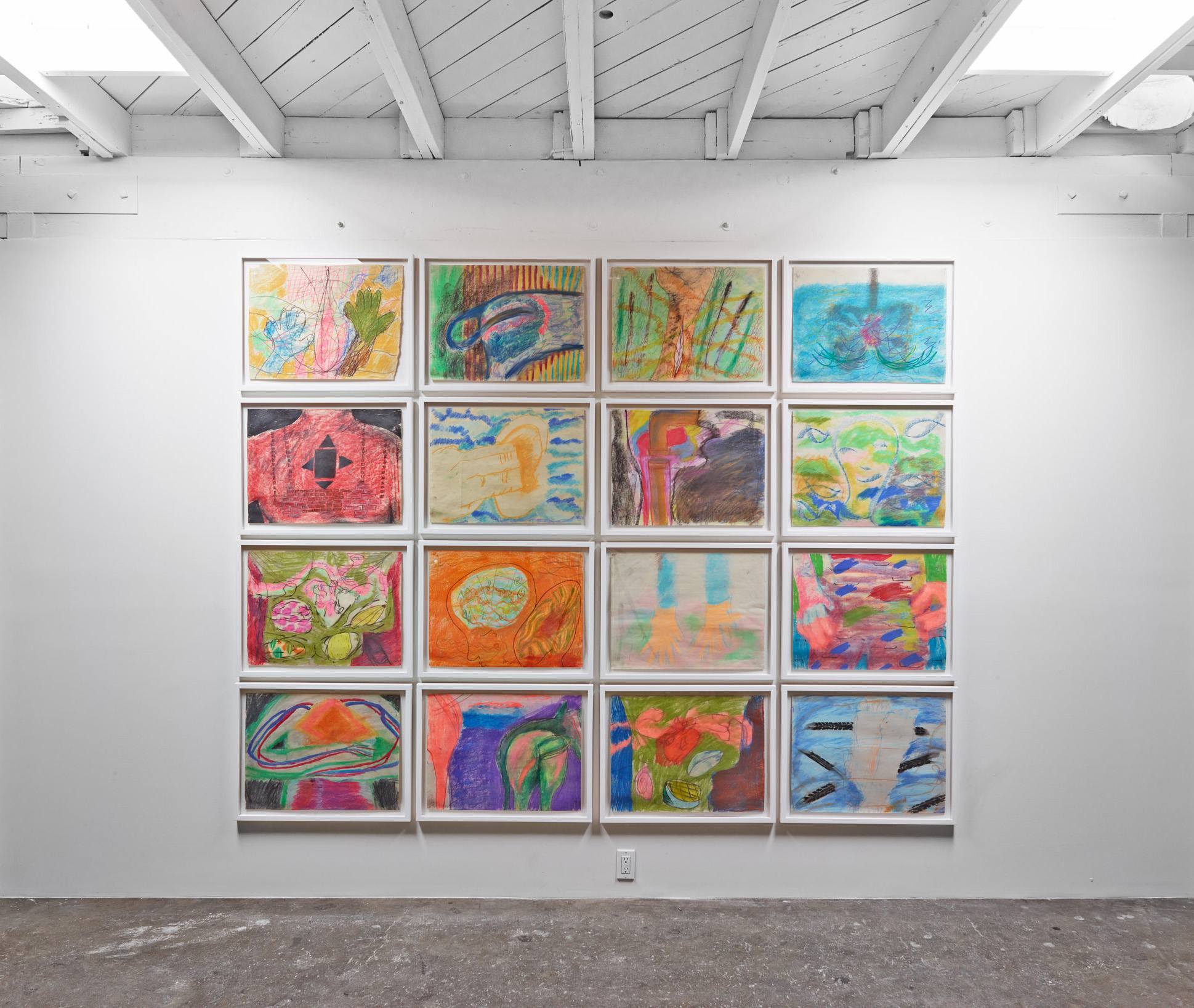 """Installation view of """"Stone Gloves"""", solo exhibition at Harmony Murphy Gallery, 2014"""