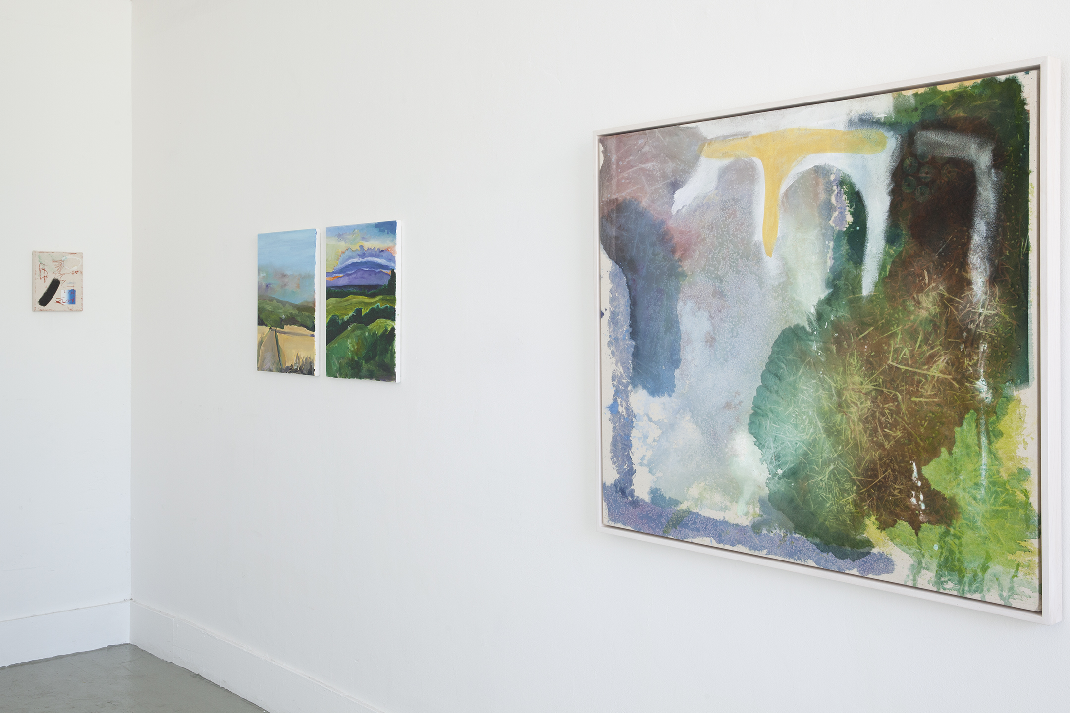 Installation view at Artist Curated Projects, group exhibition, 2018