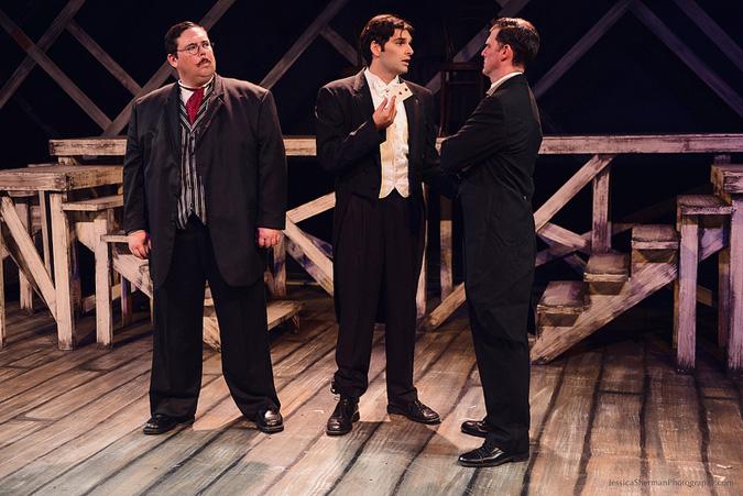 "As Harry Houdini in Jaime Robledo's ""Watson and The Dark Art of Harry Houdini"", Sacred Fools Theatre, 2015"