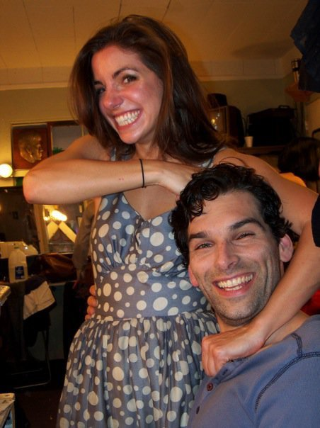 Being put in my proper place by Megan Rosati backstage for Sacred Fools' production of  Baal , 2009