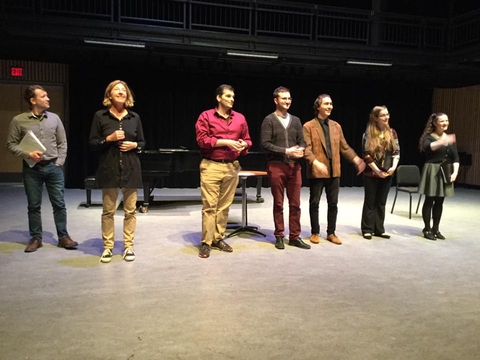With fellow collaborators at the 2019 Vancouver Opera Festival's  New Works Series