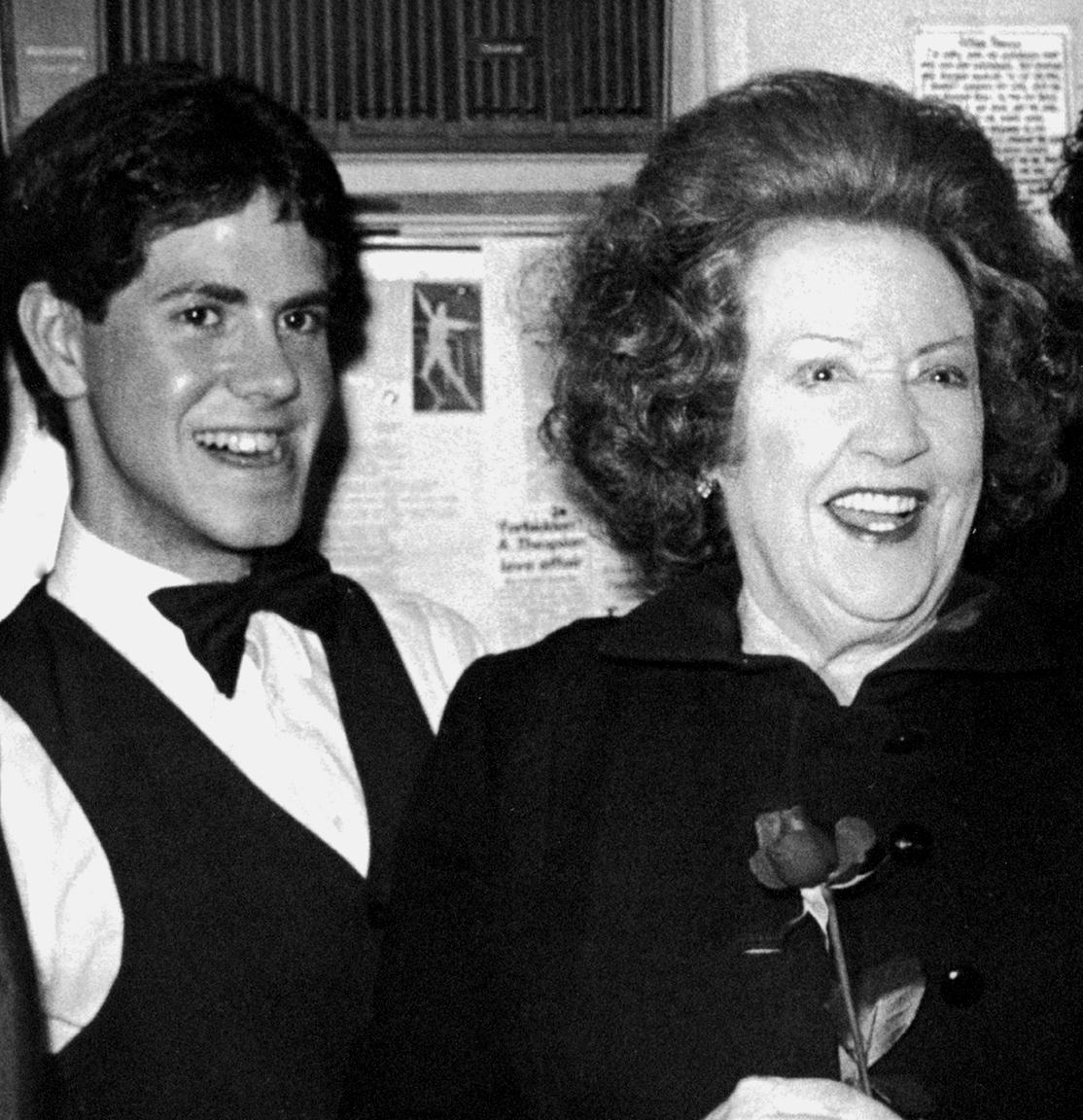 Fred Barton and Ethel Merman, February, 1982