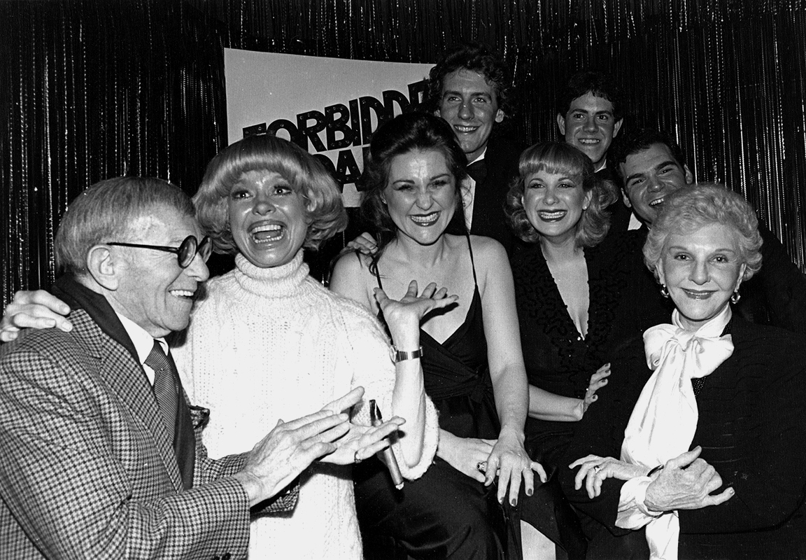 George Burns, Carol Channing, Nora Mae Lyng, Bill Carmichael, Wendee Winters, Fred Barton, Gerard Alessandrini, Mary Martin