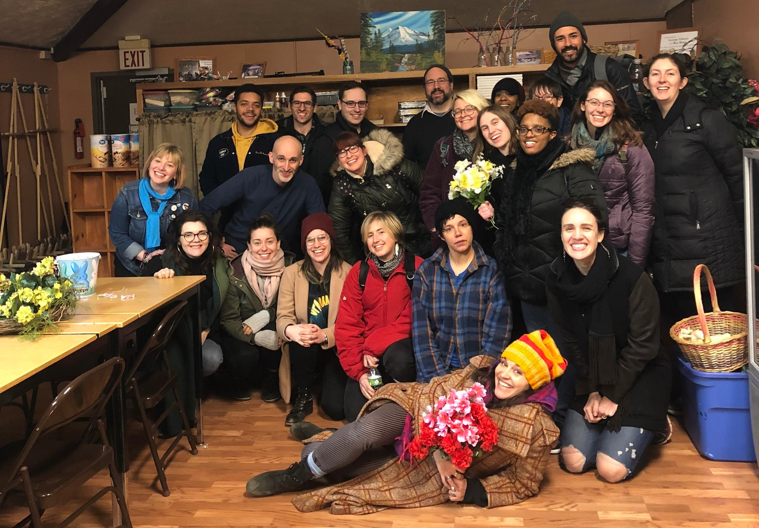 The artists of Crossing Roots at Cowan Community Center