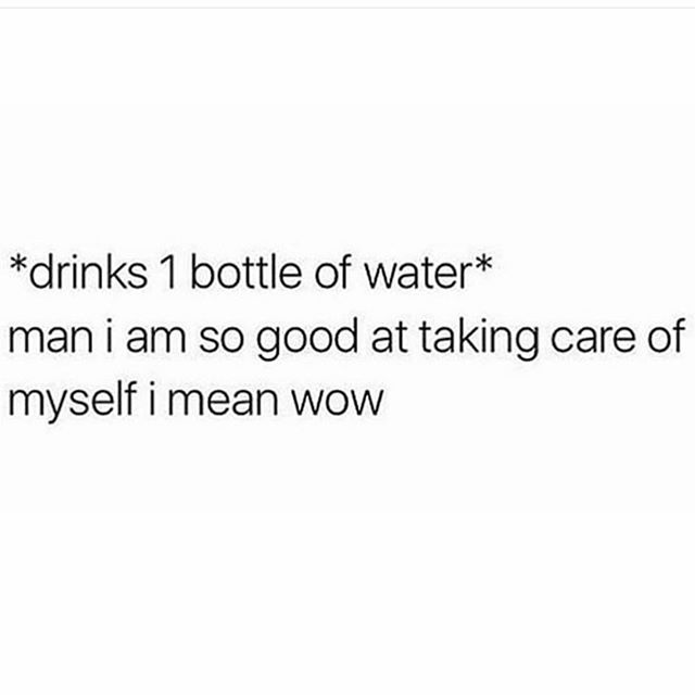 😂 so dam proud 🙋🏾‍♀️ Hydration goals 2L min per day.