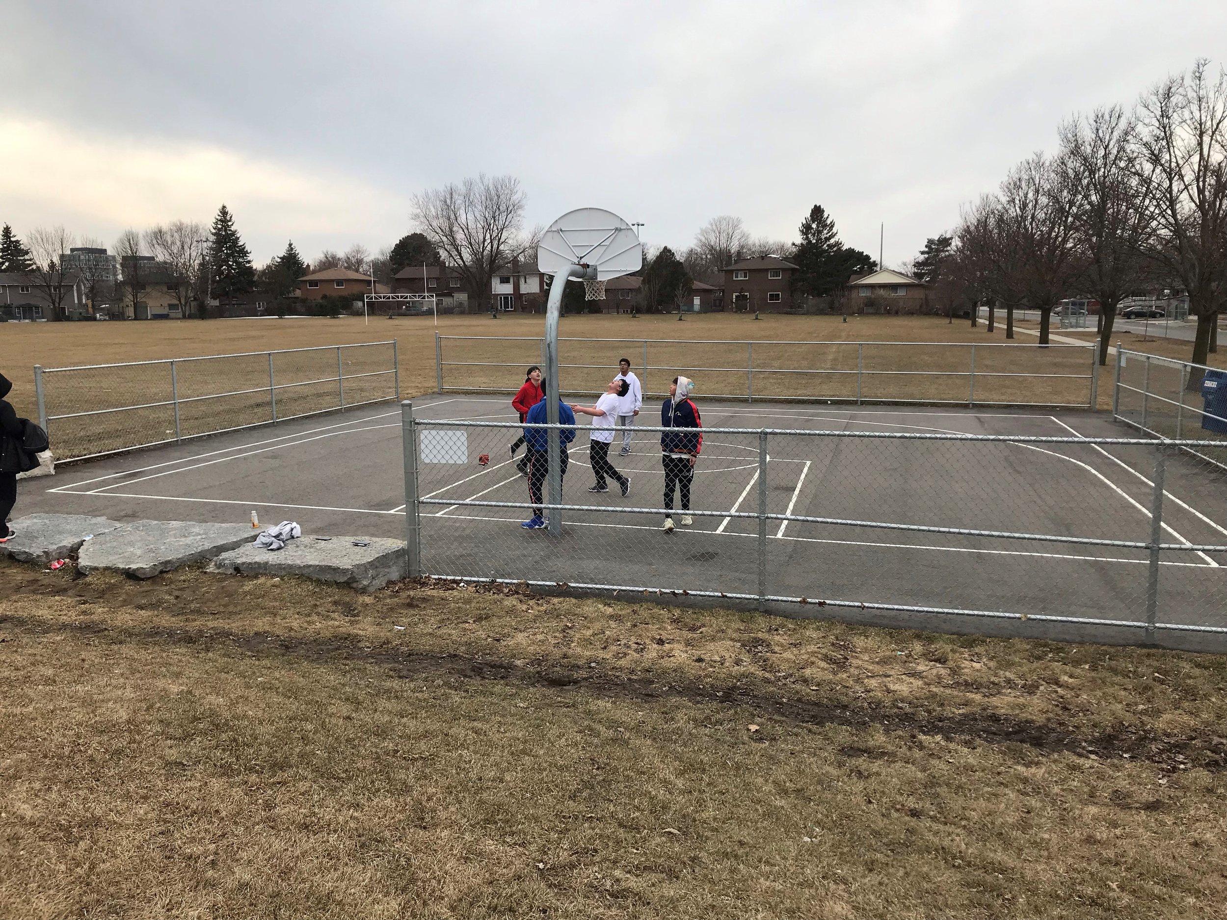 3 on 3 Basketball Court in Van Horne Park