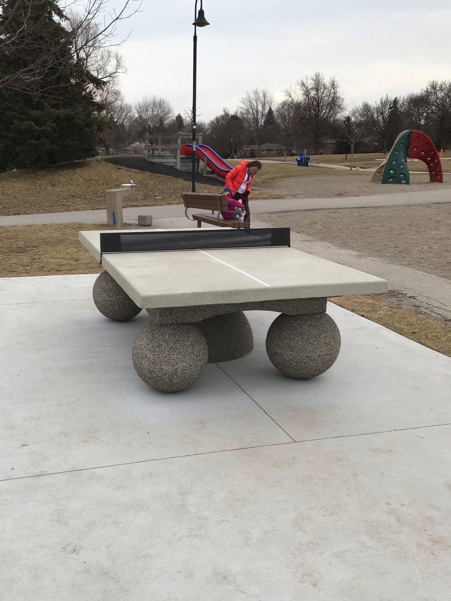 Ping Pong table in Bellbury Park