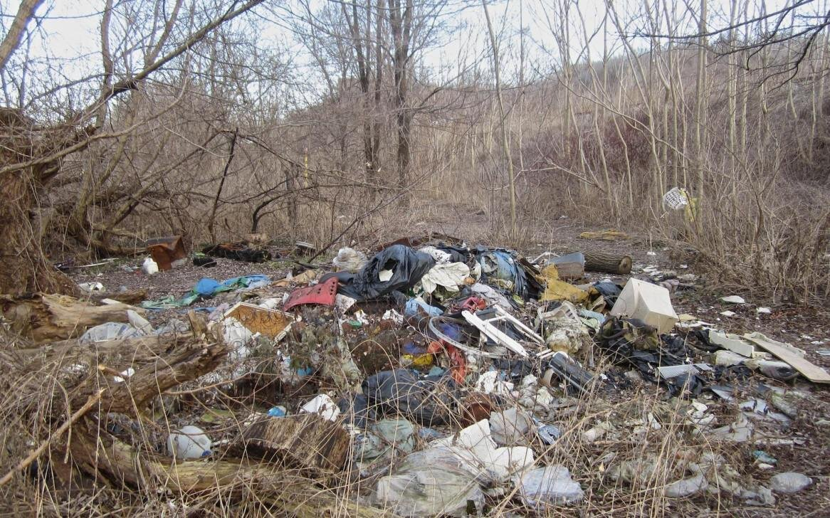 A mound of garbage in the Don Valley