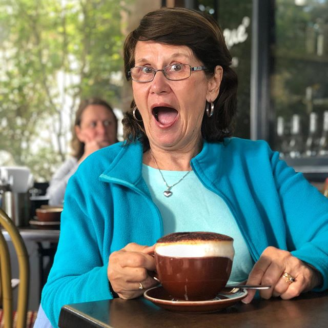 We love all our regulars and their special coffees - just like Helen and her large skim extra hot extra extra frothy cappuccino!! ☕️ . What's YOUR special coffee order? 🙂