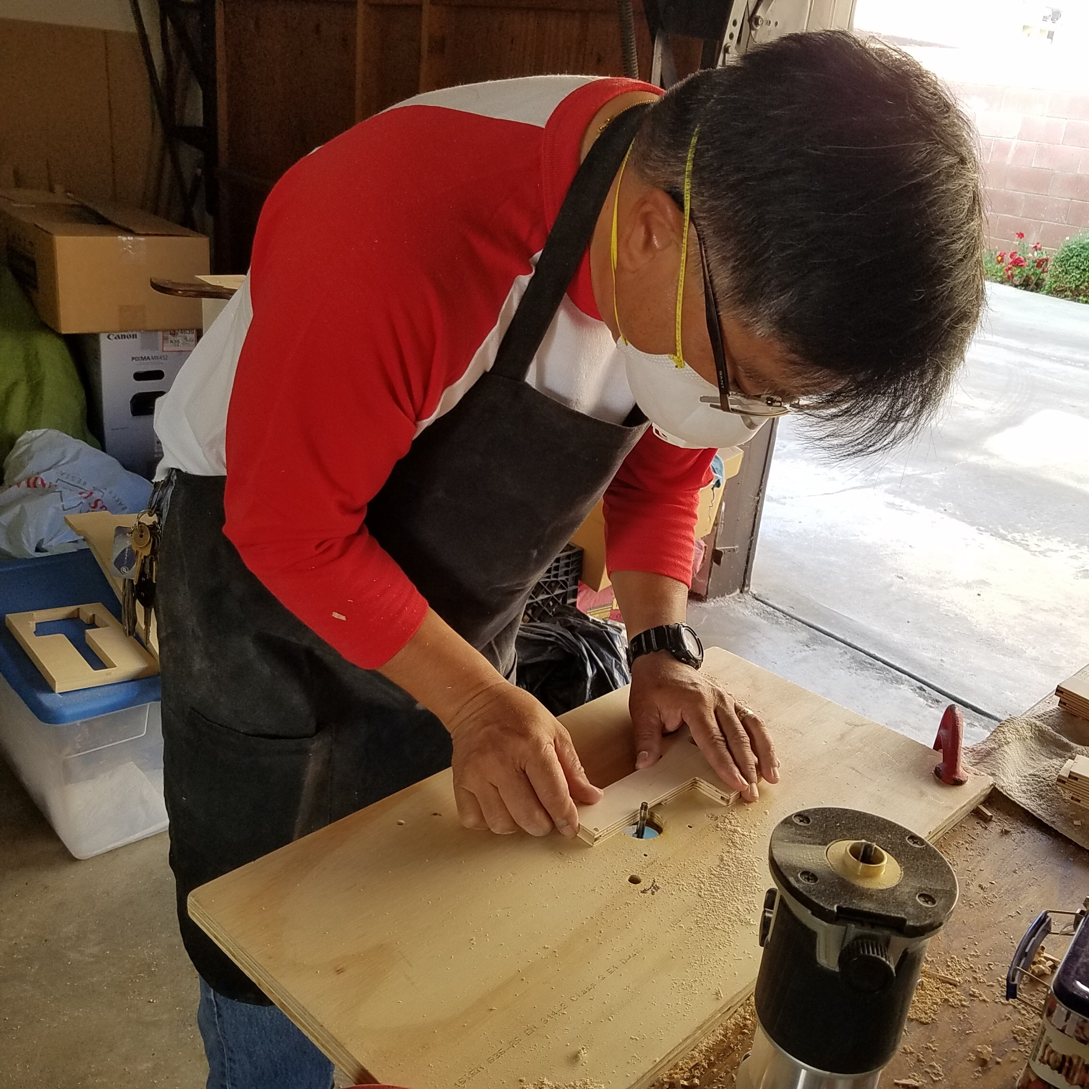 Keith Kimura hand shaping a K-Stand body for an Ukulele.