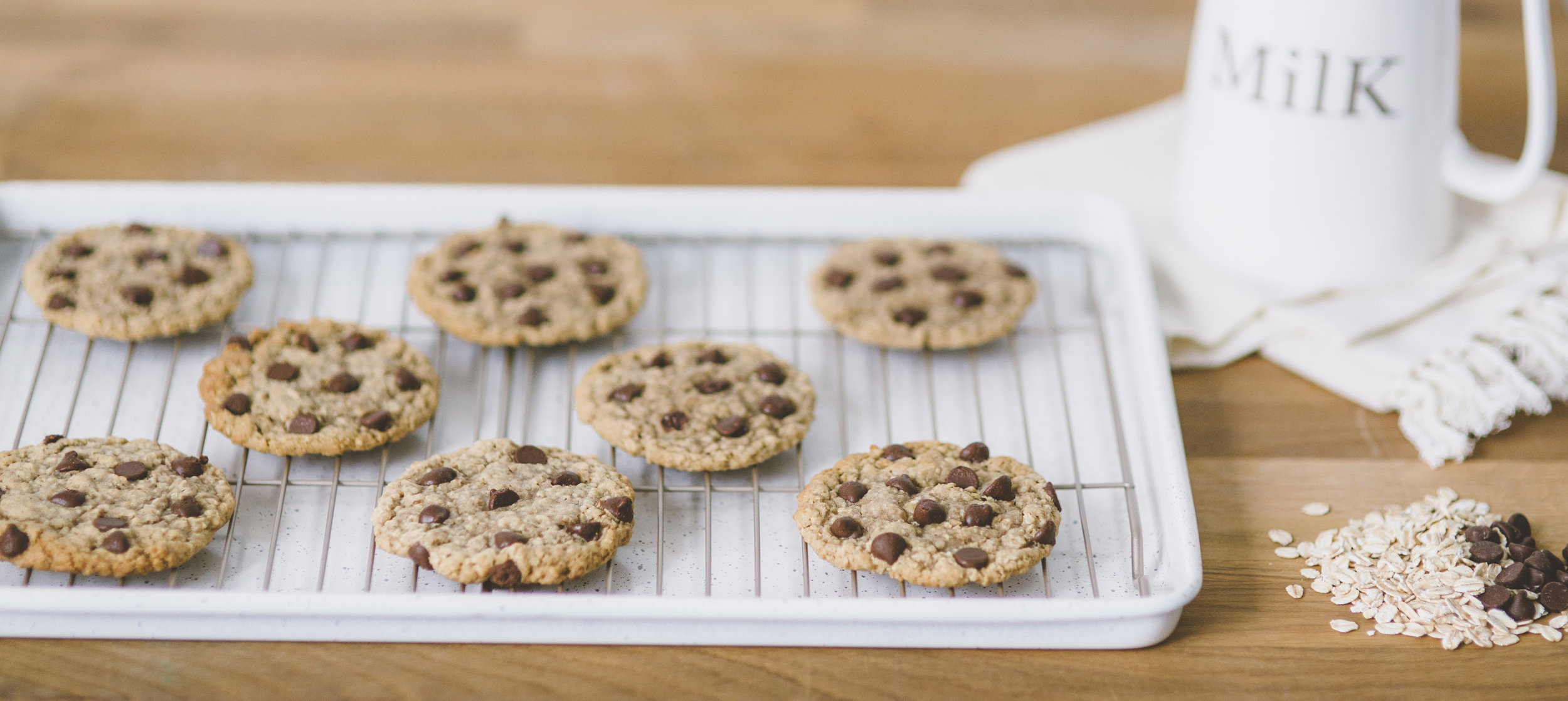 Website banner shot for Only Oatmeal Cookie Creations