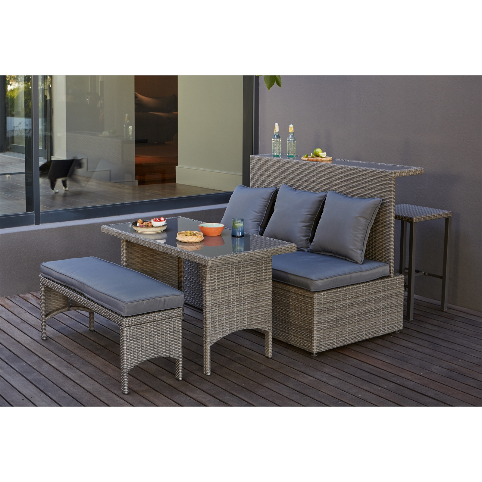 Mali Grey Rattan Bar Now £350