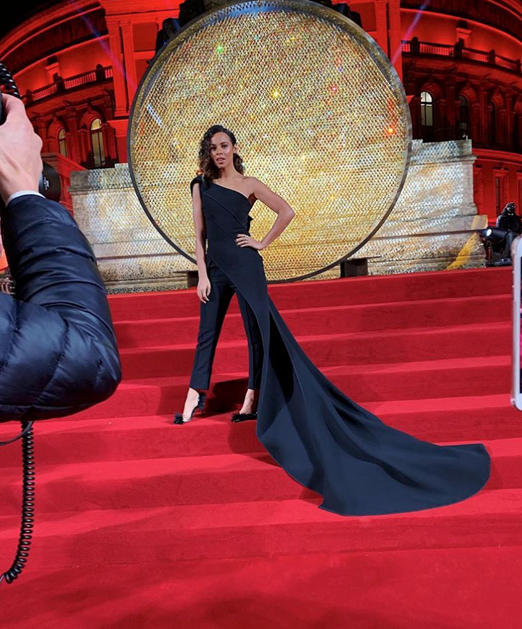 Rochelle Humes wears Tilly Thomas Lux stars for the British Fashion Awards 2018