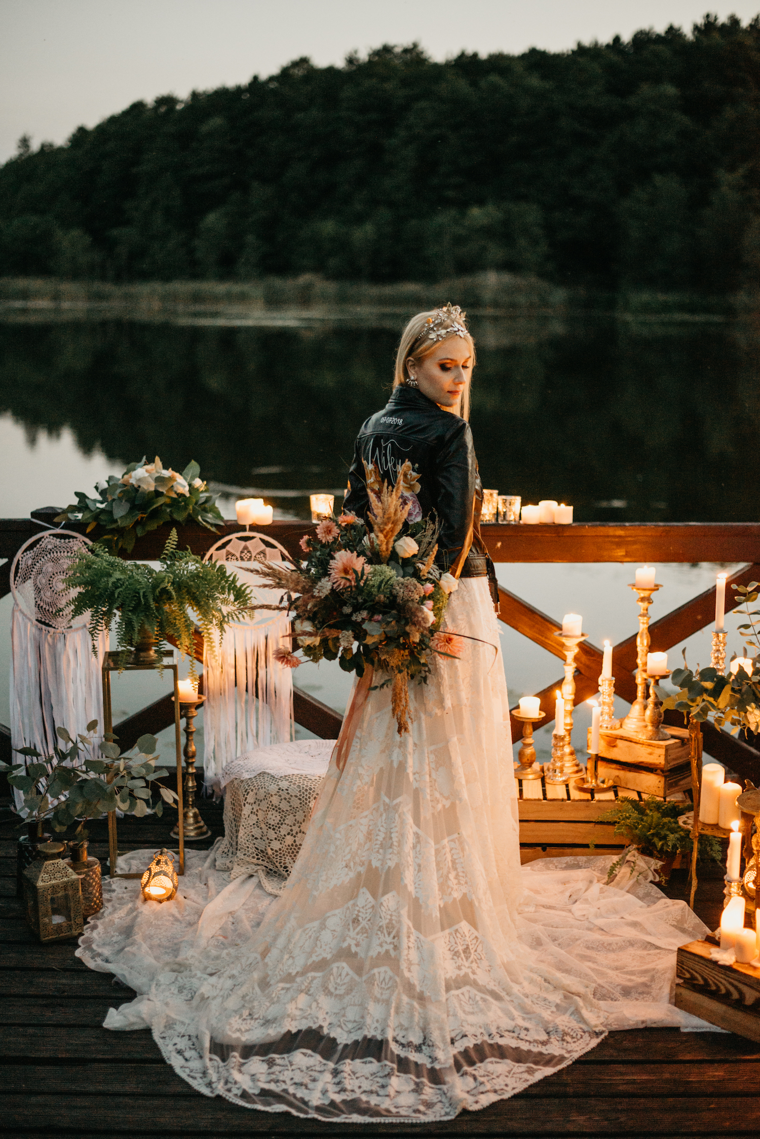 Beautiful bride Klaudyna wore Rue De Seine and Tilly Thomas Lux for her wedding day |  Image by Once Upon Photography