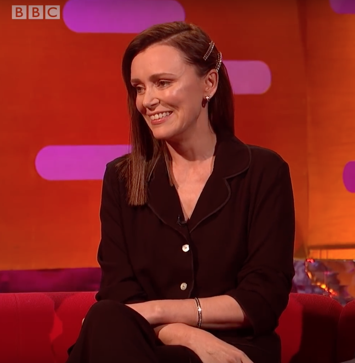 Keeley Hawes on Graham Norton show.png