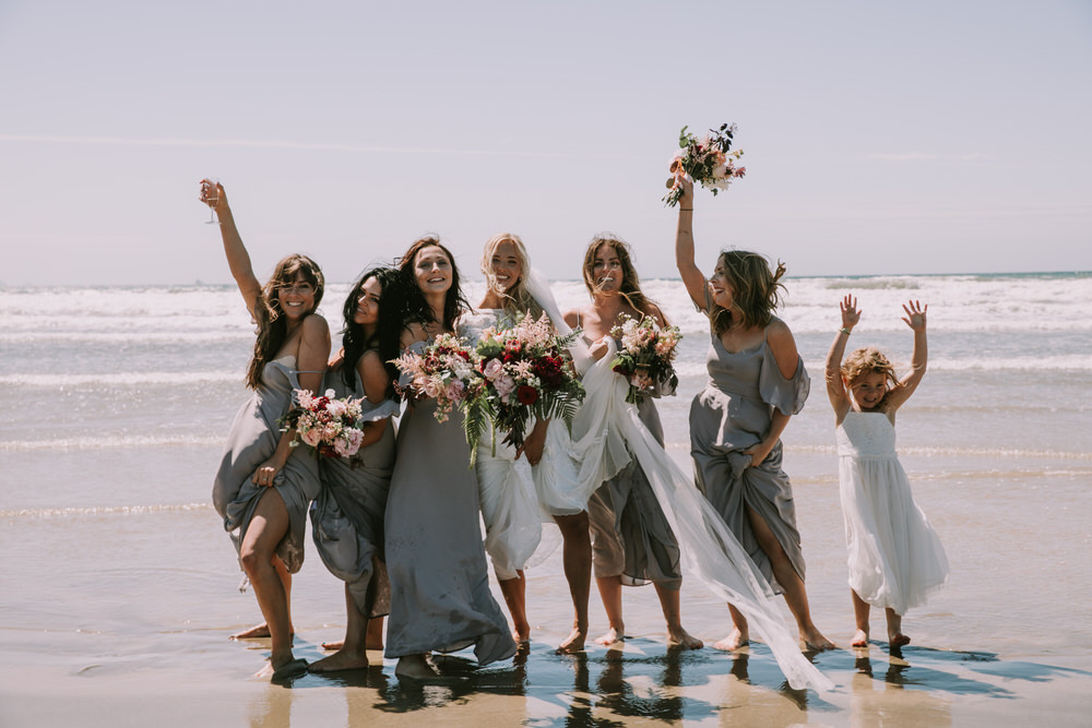 Grace Loves Lace gown and Tilly Thomas Lux headpiece for a stunning cliff top Wedding