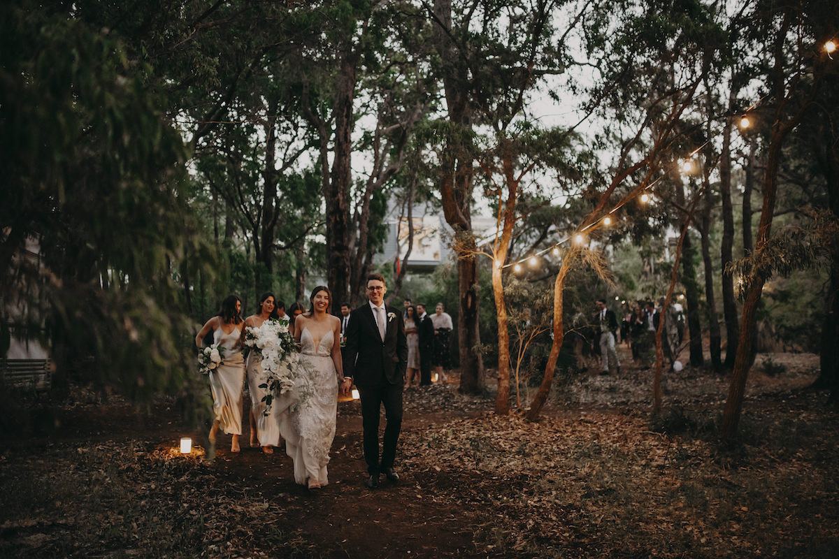 Beautiful bride Rosie wore a headpiece by Tilly Thomas Lux on her wedding day