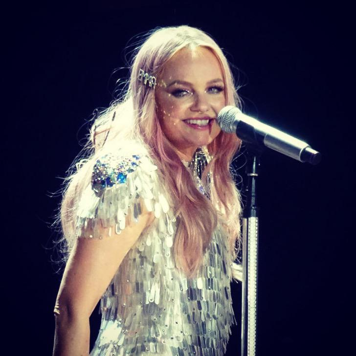 Baby Spice Emma Bunton wears Tilly Thomas Lux Hair clip for Spice Girls Tour
